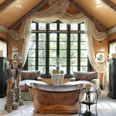 mediterranean bathroom by Edwin Pepper Interiors