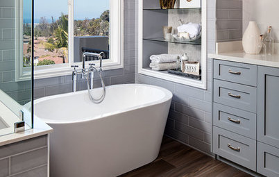 A Smaller Tub Makes Room for a Larger Shower
