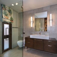 Tropical Bathroom by GARY FINLEY, ASID