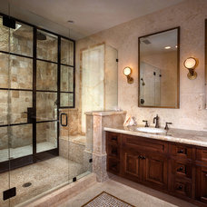 Rustic Bathroom by Riviera Bronze Mfg.