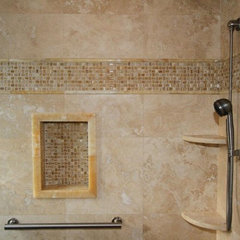 traditional bathroom by Morrone Interiors