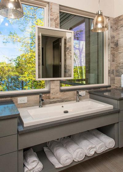 Perfect Transitional Bathroom by Jones Pierce Architects