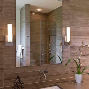 Super 75 Beautiful Brown Tile Bathroom With Yellow Walls Pictures Download Free Architecture Designs Pushbritishbridgeorg