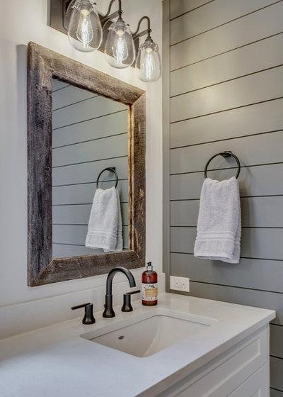 Farmhouse Bathroom by Knight Custom Homes