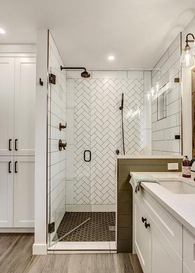 Transitional Bathroom by Knight Custom Homes