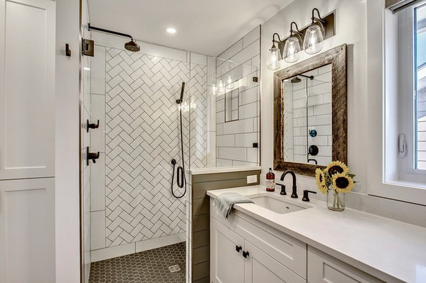 A Modern Farmhouse Bath for a Couple's Forever Home on Modern Farmhouse Shower  id=28555