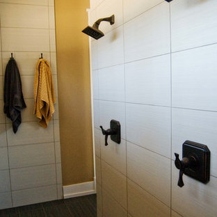 Example of an arts and crafts bathroom design in Other