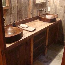 Rustic Bathroom by Bear Mountain Builders