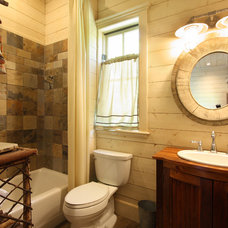 rustic bathroom by Timberlake Custom Homes, LLC