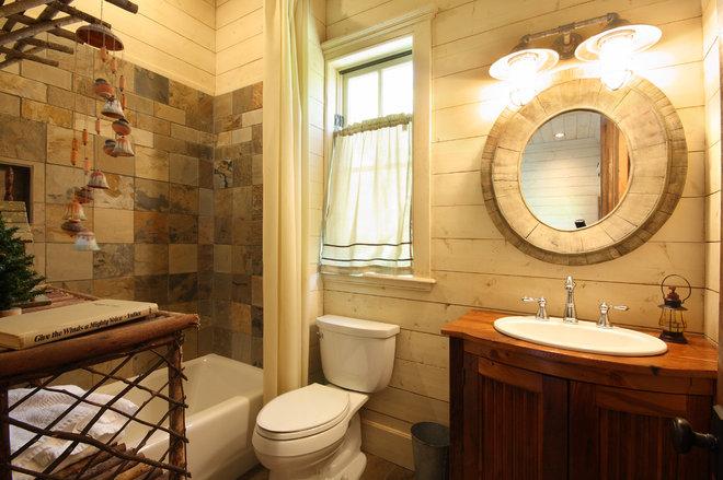 Rustic Bathroom by Timberlake Custom Homes, LLC