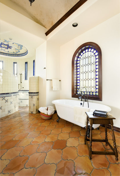 Mediterranean Bathroom by JAUREGUI Architecture Interiors Construction