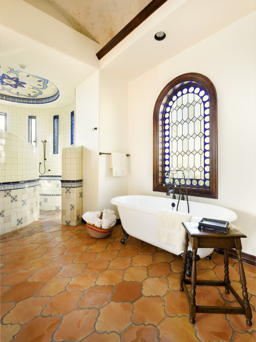 . Bathroom Design Ideas  Remodels   Photos with Terra Cotta Tile