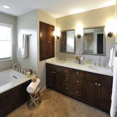 Contemporary Bathroom by Lake Country Builders