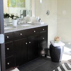 Beach Style Bathroom by Michelle Morelan Design