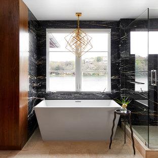 exemple dune salle de bain principale tendance de taille moyenne avec une baignoire indpendante