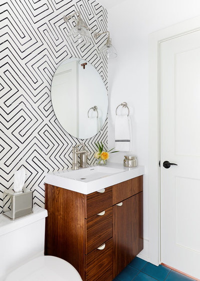 Fancy Contemporary Bathroom by J Fisher Interiors