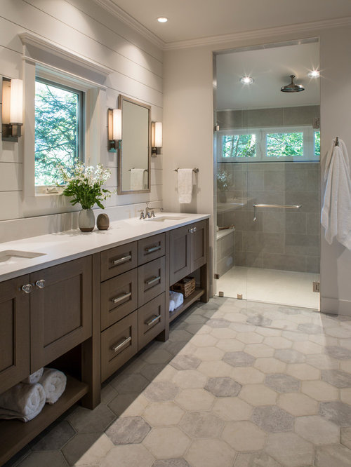Top 100 master bathroom ideas designs houzz for Bathroom ideas medium