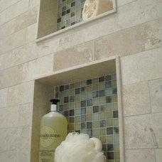 Transitional Bathroom by Niemand Interiors