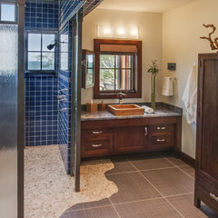 eclectic bathroom by Deep River Partners