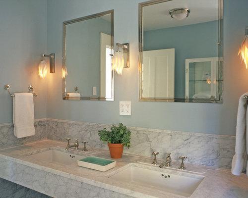 tall backsplash - Backsplash Bathroom