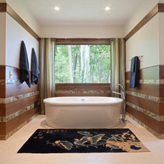 eclectic bathroom by roomTEN design