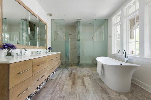 Farmhouse Bathroom by Kroiss Development, Inc.