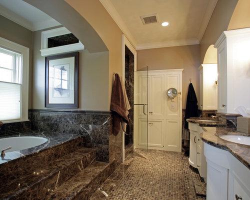 Brown Marble Bathroom Floor : Brown marble houzz