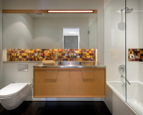 Takbelysning Dusch : Foton och badrumsinspiration för badrum med bänkskiva i rostfritt