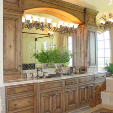 Mediterranean Bathroom by Eagle Designs and Woodworking, Inc.