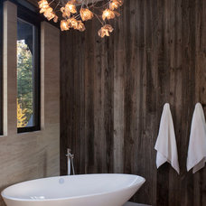 Rustic Bathroom by Chelsea Sachs Design
