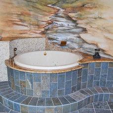 Eclectic Bathroom by Rob Sanders Designer - Custom Home/Remodel Design