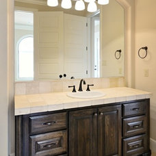 Mediterranean Bathroom by SILVERTON CUSTOM HOMES