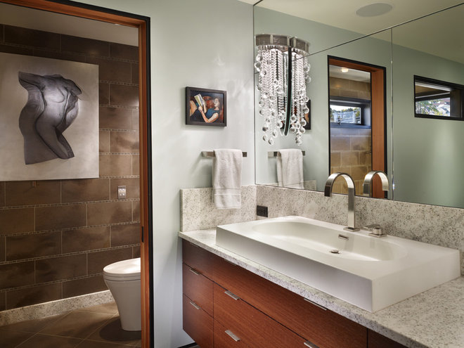 Contemporary Bathroom by Dan Nelson, Designs Northwest Architects