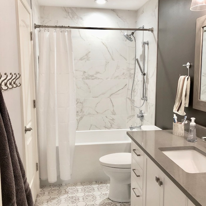 Lake Zurich Modern Farmhouse Bathroom Remodel