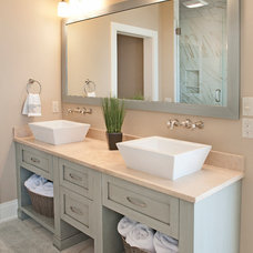 Beach Style Bathroom by Mike Schaap Builders