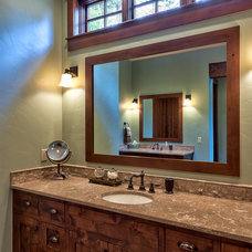 Rustic Bathroom by Ridgeline Construction Group, Inc