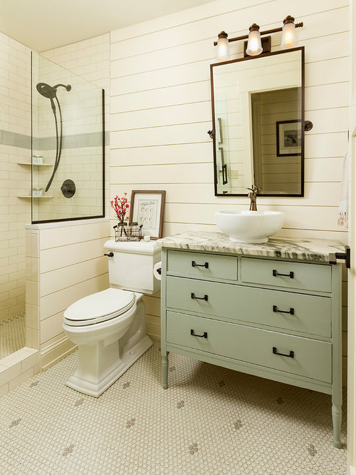 midsized country 34 white tile and subway tile mosaic tile floor bathroom
