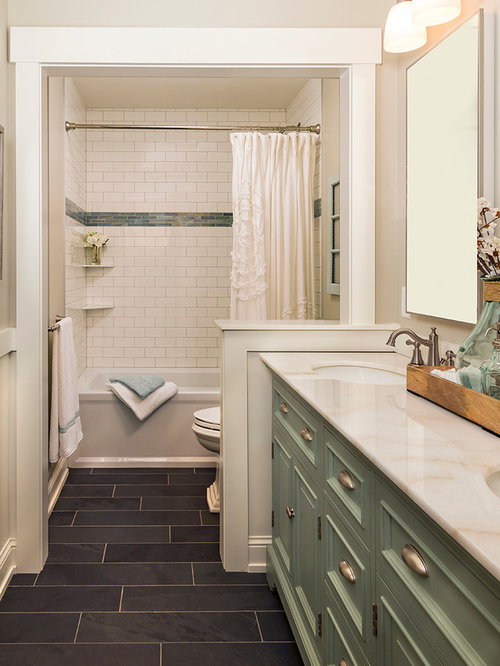 tile bathroom ideas. Mid sized traditional white tile and subway slate floor bathroom idea  in Minneapolis with Best 15 Subway Tile Bathroom Ideas Houzz