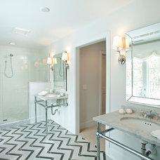 Transitional Bathroom by REFINED LLC