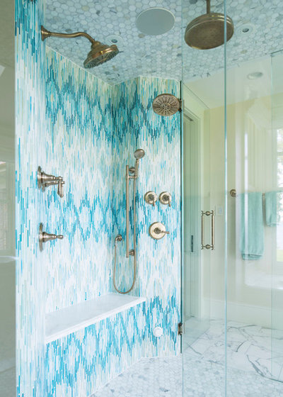 Cool Traditional Bathroom by Tile By Design