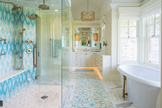 Beautiful Traditional Bathroom by Tile By Design