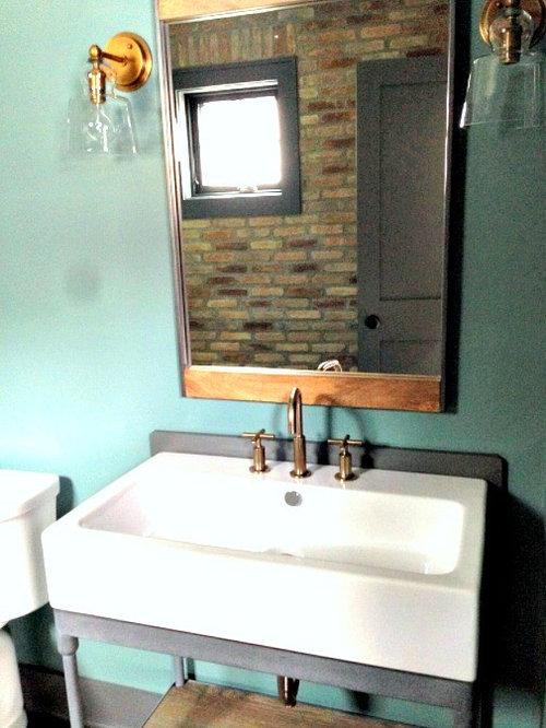 bad mit gelben schr nken im industrial style ideen bilder houzz. Black Bedroom Furniture Sets. Home Design Ideas