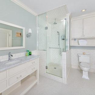 Idee per una stanza da bagno chic con piastrelle diamantate
