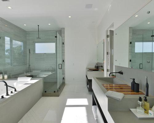 Handfat Funkis : Foton och badrumsinspiration för badrum med ett avlångt handfat