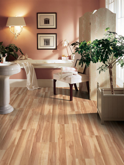 Bathroom design ideas renovations photos with laminate for Pink laminate flooring