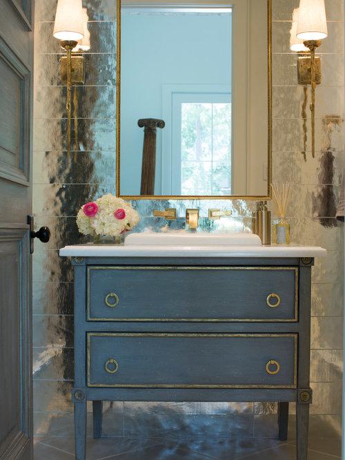 Best Bathroom with Mirror Tile Design IdeasRemodel PicturesHouzz