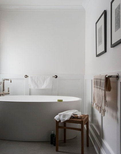 Transitional Bathroom by victoria kirk interiors