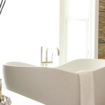 Large Coastal Modern Bathroom Design