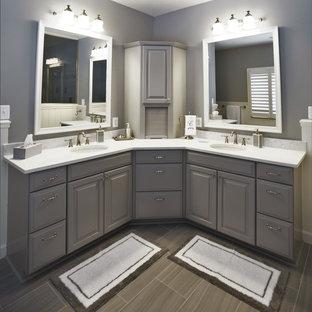 Large Double Corner Vanity