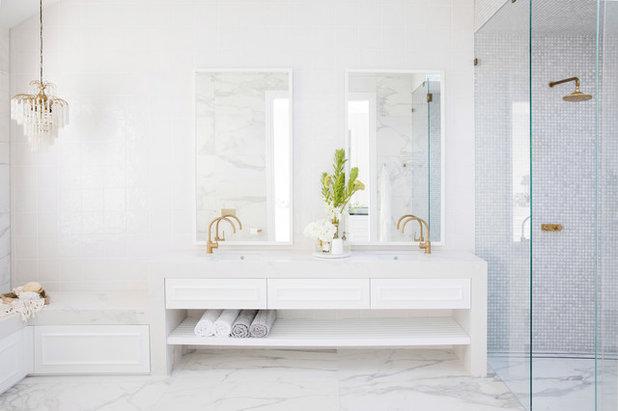 Beach Style Bathroom by Carrera By Design